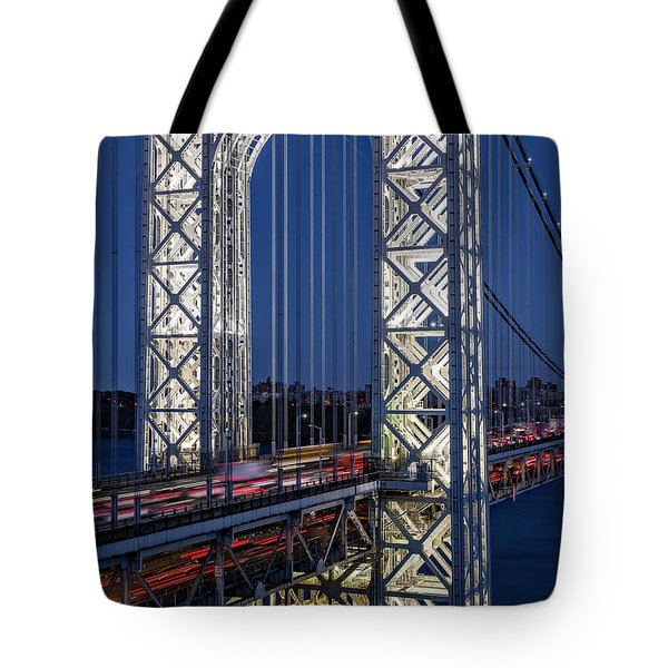 Tote Bag featuring the photograph George Washington Bridge Gwb by Susan Candelario
