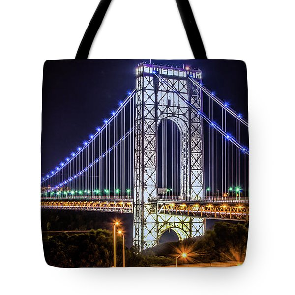 Tote Bag featuring the photograph George Washington Bridge - Memorial Day 2013 by Theodore Jones
