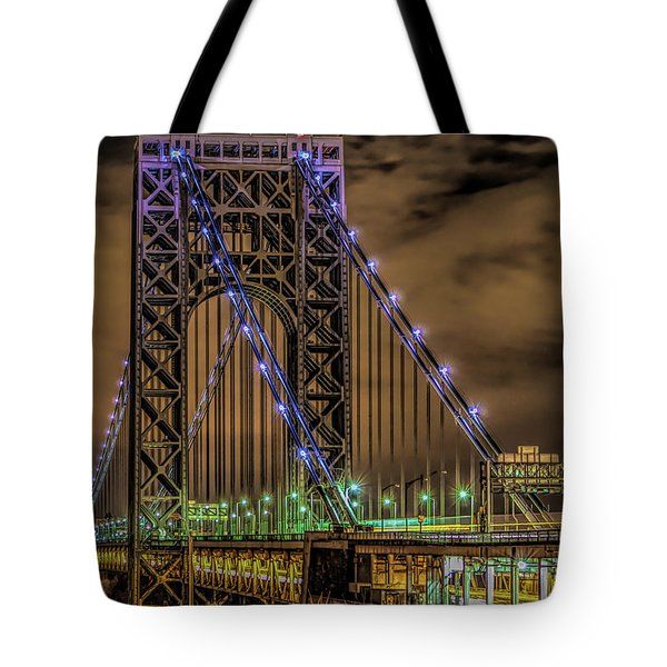 Tote Bag featuring the photograph George Washington Bridge by Theodore Jones