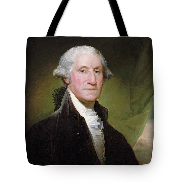 Tote Bag featuring the painting George Washington Portrait by Gilbert Stuart
