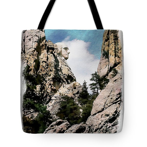George Washington Profile - Mount Rushmore Tote Bag