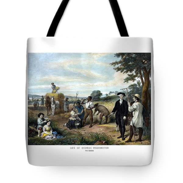 George Washington The Farmer Tote Bag by War Is Hell Store