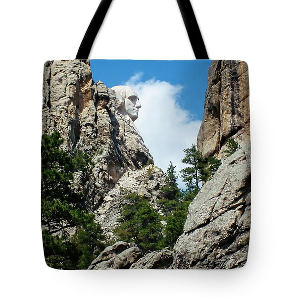 George Washinton Profile - Mount Rushmore South Dakota Tote Bag