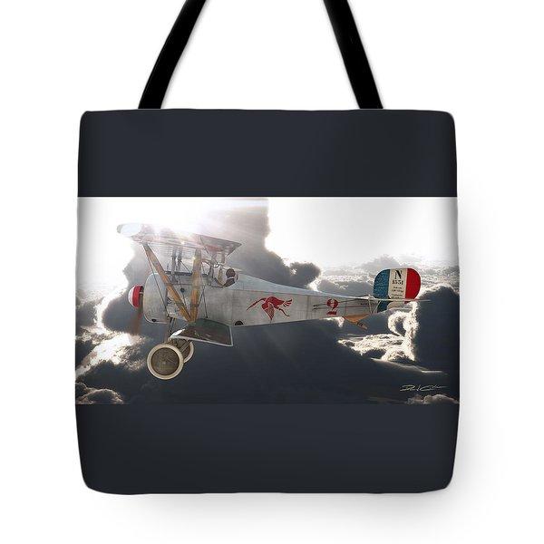 Georges Guynemer Nieuport 17 Tote Bag by David Collins