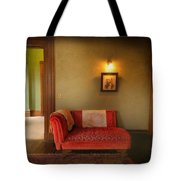 George's Red Sofa Tote Bag