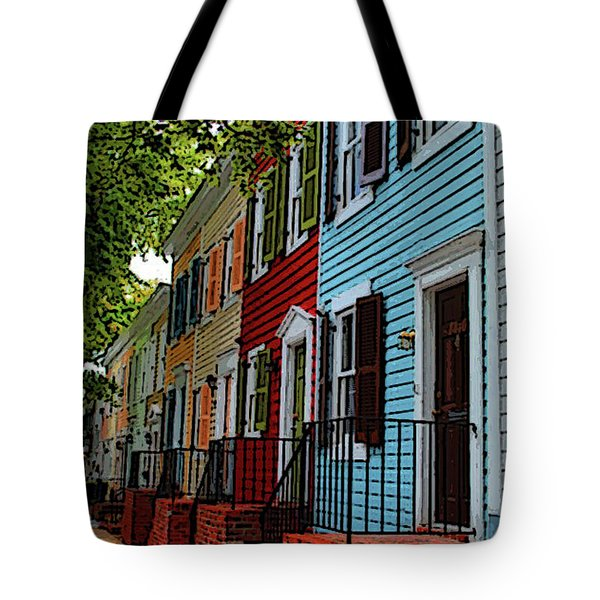 Tote Bag featuring the photograph Georgetown Shutter Row by Jost Houk