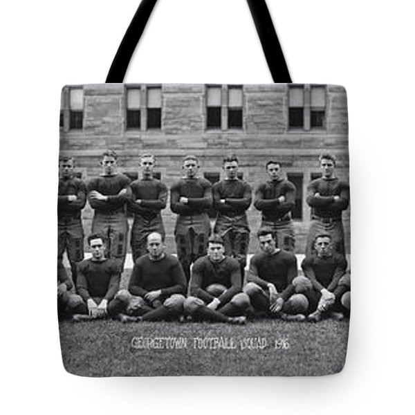 Georgetown U Football Squad Tote Bag by Panoramic Images