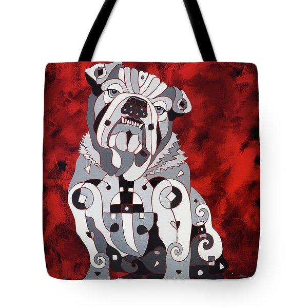 Georgia Bull Dog Tote Bag