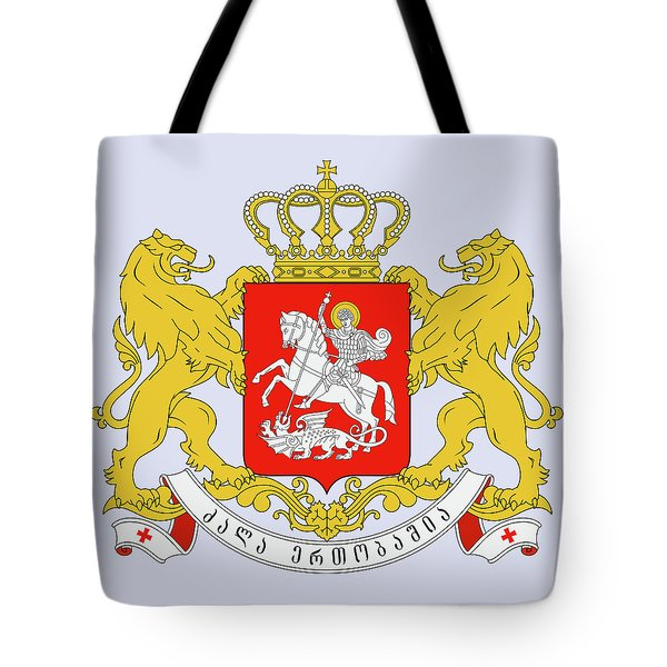 Tote Bag featuring the drawing Georgia Coat Of Arms by Movie Poster Prints