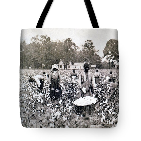 Georgia Cotton Field - C 1898 Tote Bag by International  Images