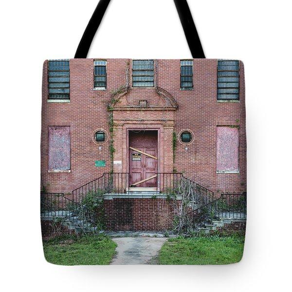 Tote Bag featuring the photograph Georgia State Hospital by Kim Hojnacki