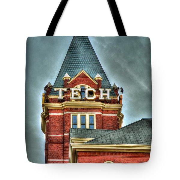 Georgia Tech Tower 8 Georgia Institute Of Technology Art Tote Bag