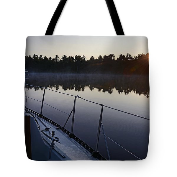 Georgian Bay Sailing Sunrise Tote Bag