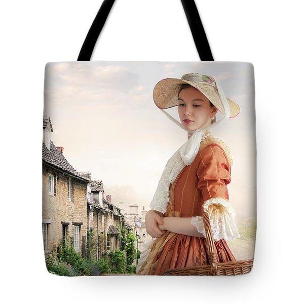 Georgian Period Woman Tote Bag