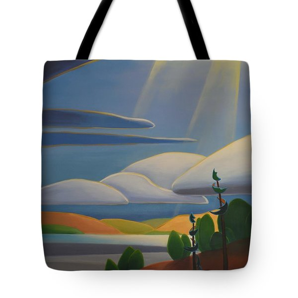 Georgian Shores - Left Panel Tote Bag