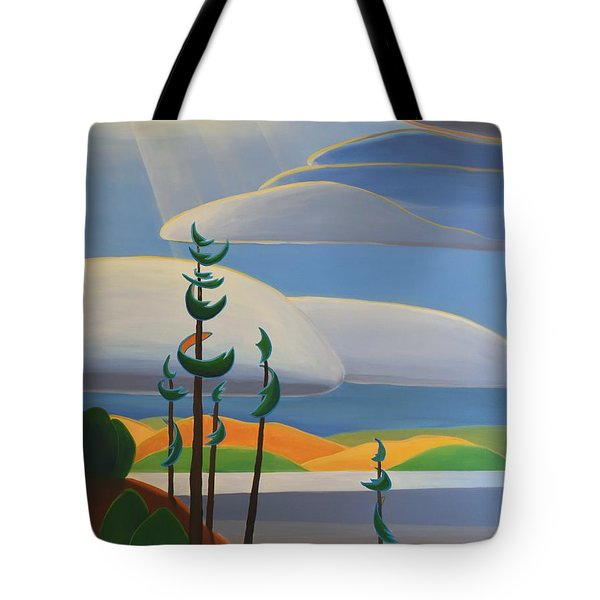 Georgian Shores - Right Panel Tote Bag