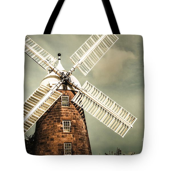 Tote Bag featuring the photograph Georgian Stone Windmill  by Jorgo Photography - Wall Art Gallery