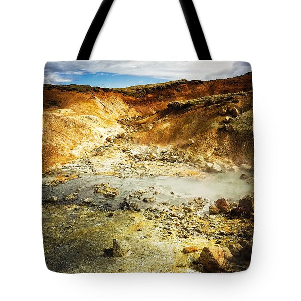 Geothermal Area In Reykjanes Iceland Tote Bag