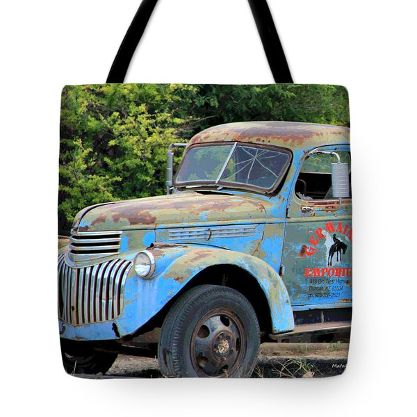 Geraine's Blue Truck Tote Bag