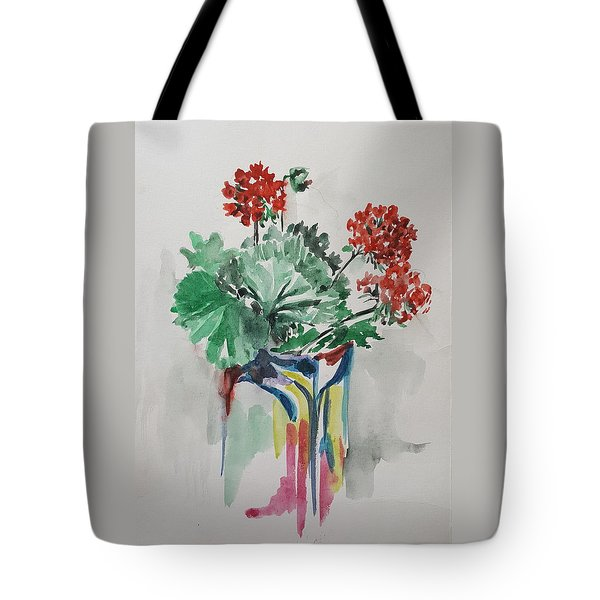 Geraniums Tote Bag by Rita Fetisov