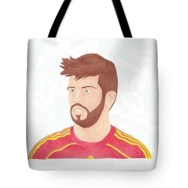 Gerard Pique Tote Bag by Toni Jaso