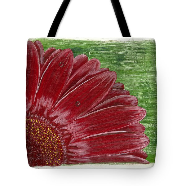 Gerber Daisy- Red Tote Bag