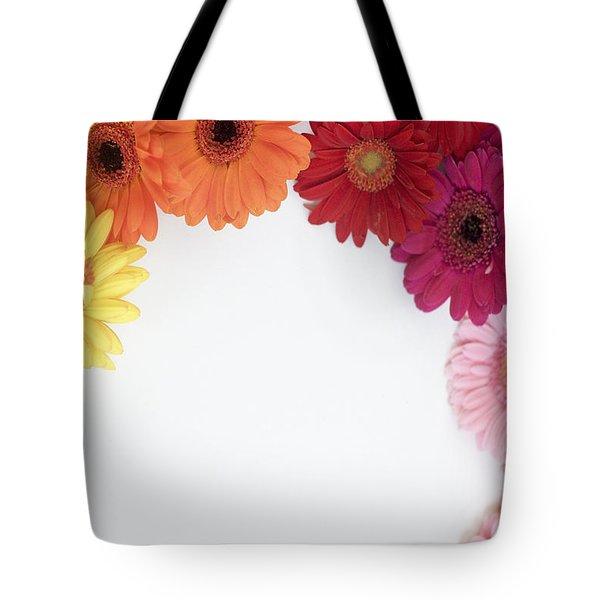 Gerbera Blooms Framed Tote Bag