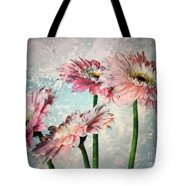 Gerbera Daisies With A Splash Tote Bag