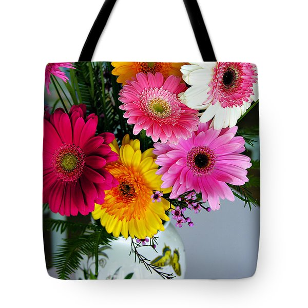 Gerbera Daisy Bouquet Tote Bag
