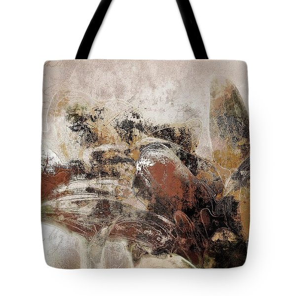 Tote Bag featuring the mixed media Gerberie - 152s by Variance Collections