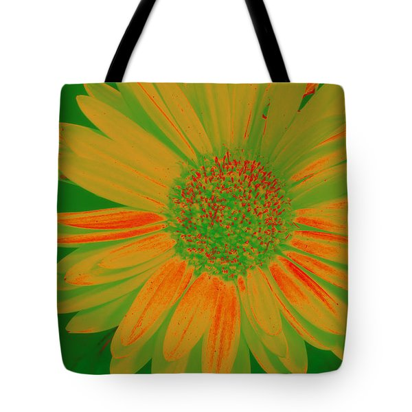 Tote Bag featuring the photograph Gerbia Daisy Sabattier by Bill Barber