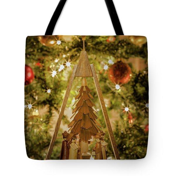 German Christmas Pyramid Tote Bag
