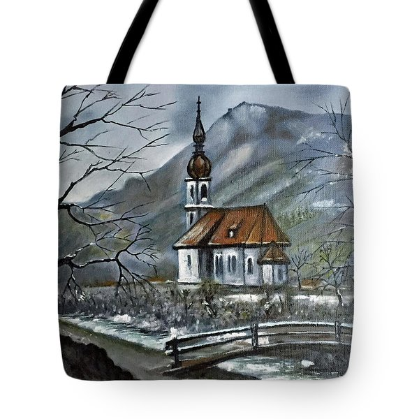 German Church At Ramsau  Tote Bag