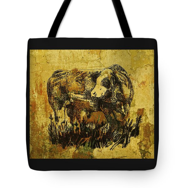 German Fleckvieh Bull 21 Tote Bag