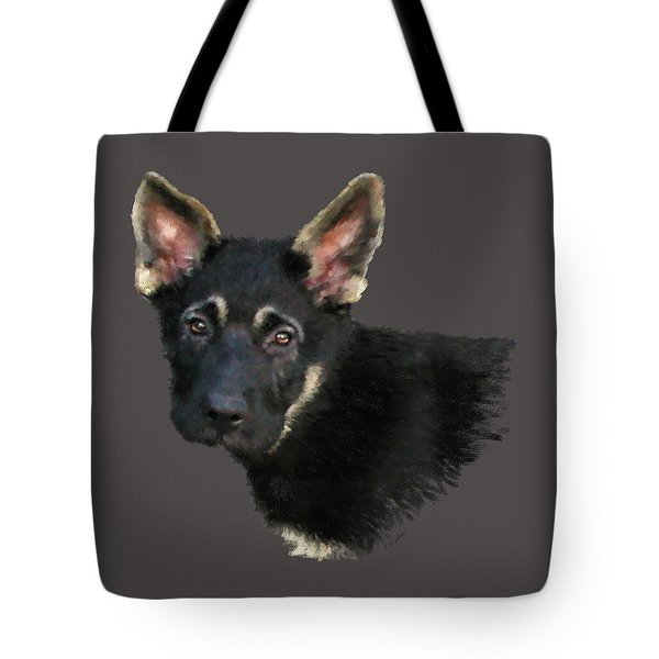 German Shepard Puppy Tote Bag