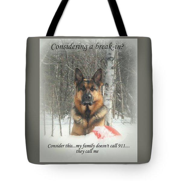 German Shepherd 911 Tote Bag