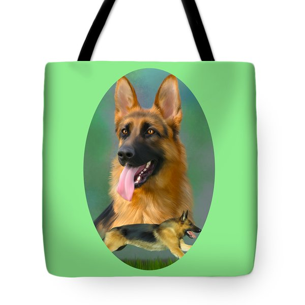 German Shepherd Breed Art Tote Bag