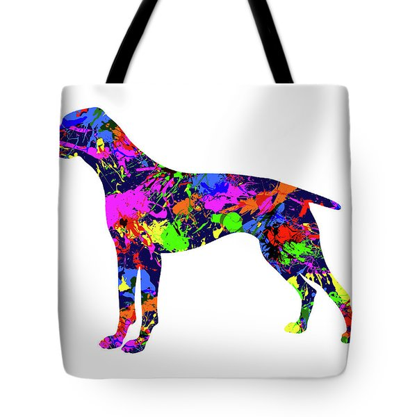 German Shorthaired Pointer Paint Splatter Tote Bag