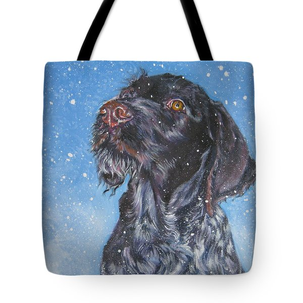 German Wirehaired Pointer Tote Bags | Fine Art America