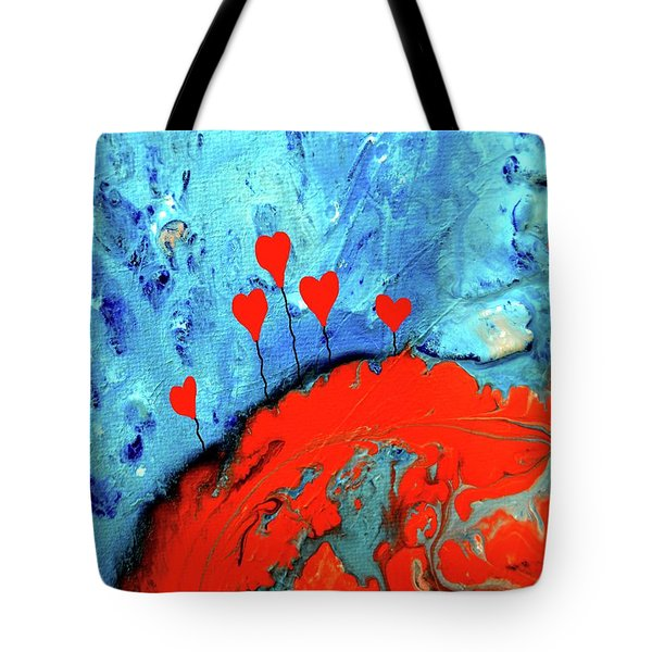 Germinating Love Tote Bag by Saribelle Rodriguez