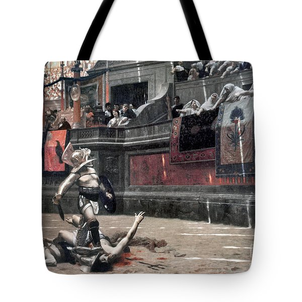 Gerome: Gladiators, 1874 Tote Bag by Granger