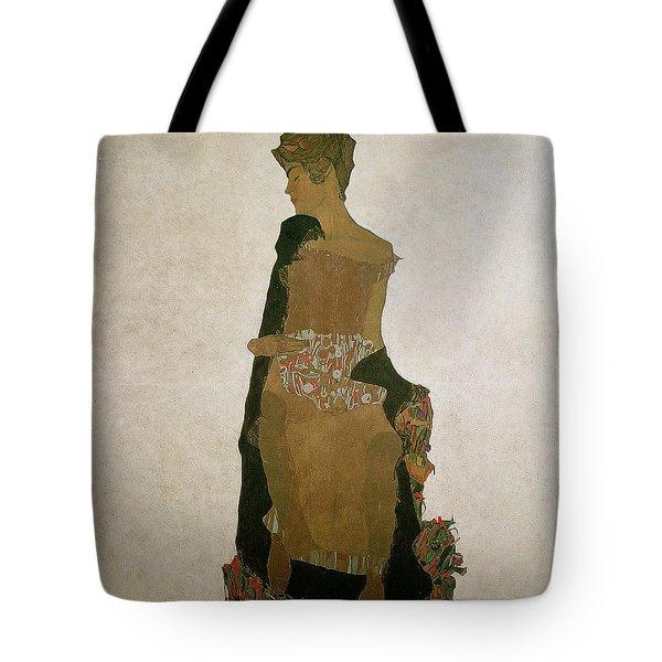 Gerti Schiele Tote Bag by Egon Schiele