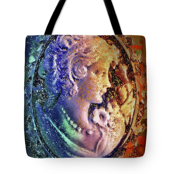Tote Bag featuring the mixed media Gertrude's Cameo by Al Matra
