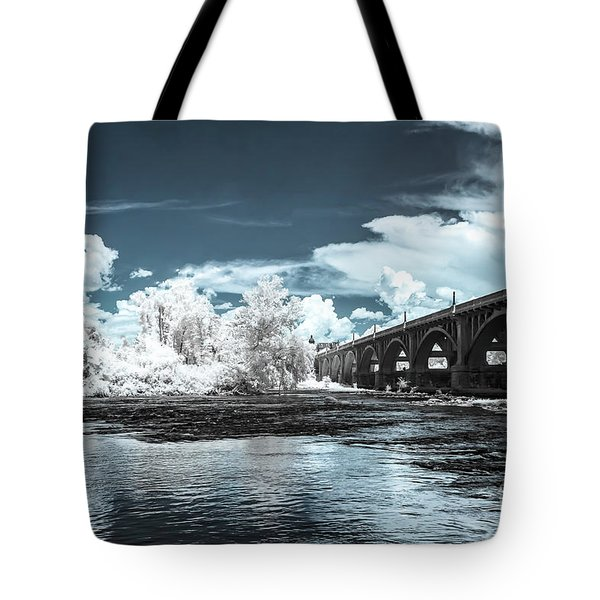 Gervais St. Bridge-infrared Tote Bag