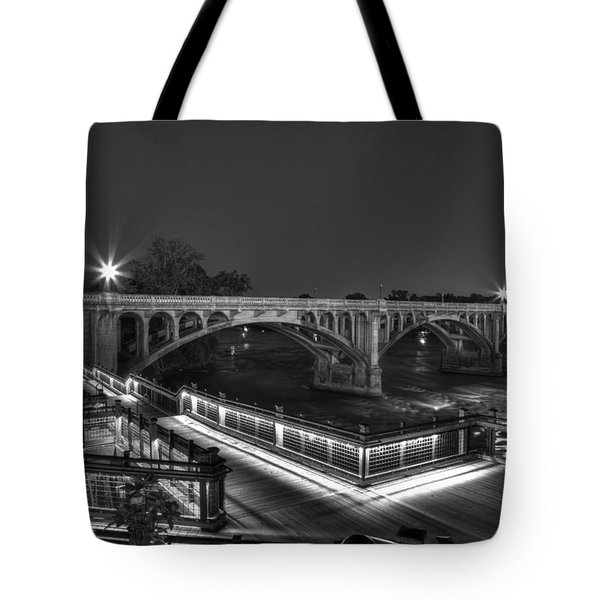 Gervais Street B-w Tote Bag by Charles Hite