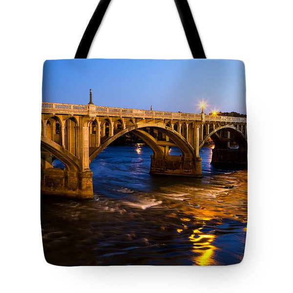 Gervais Street Bridge At Twilight Tote Bag