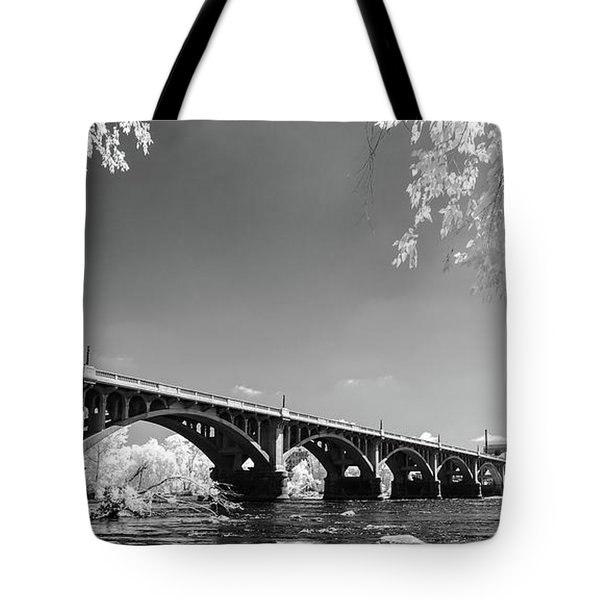 Gervais Street Bridge In Ir1 Tote Bag