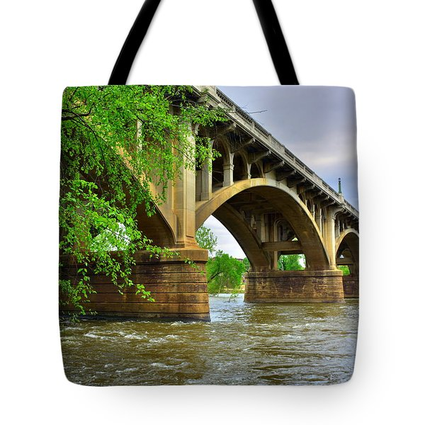 Tote Bag featuring the photograph Gervais Street Bridge by Lisa Wooten