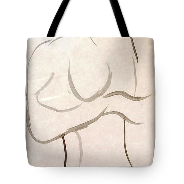 Gestural Nude Sketch Tote Bag by Angela Murray