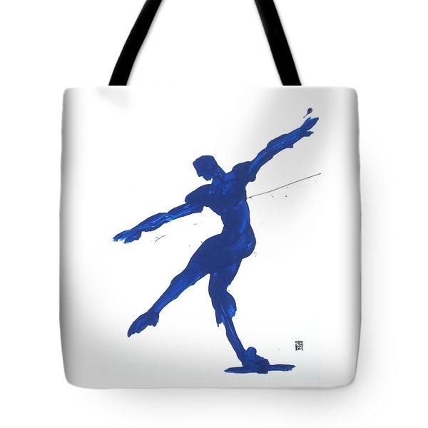 Gesture Brush Blue 2 Tote Bag